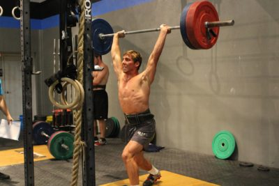 Working out at Crossfit Palm Beach
