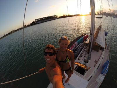 Crazy couple lives on a boat