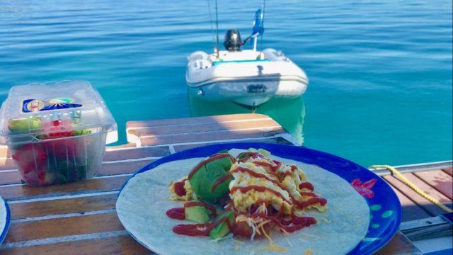 Breakfast Burritos with a view