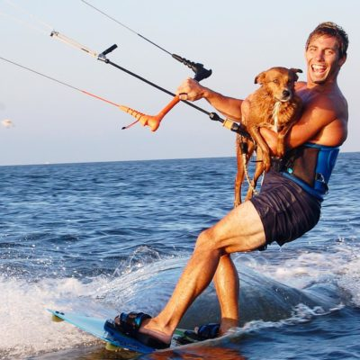 Kiteboarding Dog
