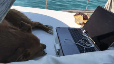 Using a hotspot to get internet on a boat