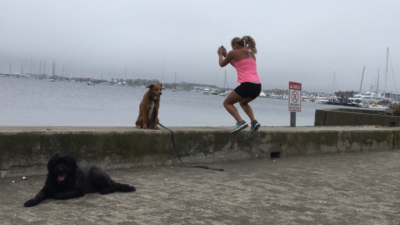 Box Jumps on Sea Walls
