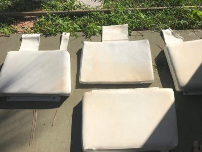 Refurbished Vinyl Boat Seats